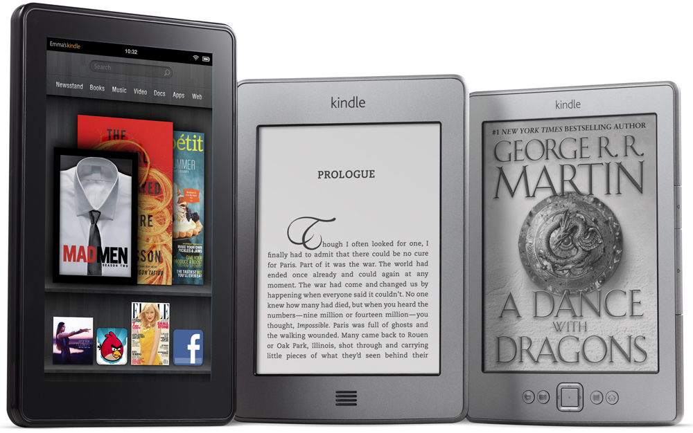 Kindle Fire, Kindle Touch, and Kindle