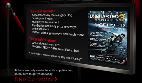 Uncharted 3 Pre-Launch Event