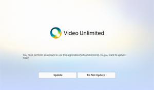 Video Unlimited Update Prompt